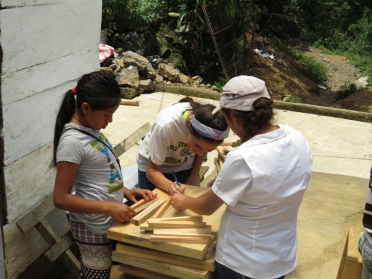 Peacework building beehive boxes