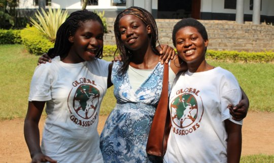 Three of our 2015 Young Women's Academy Graduates
