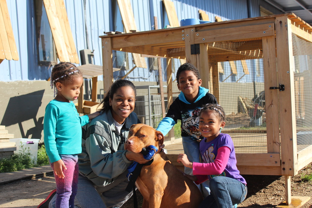Mr. Bojangles with his new family!