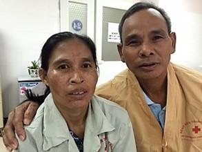 Mrs. Mac and husband pre-surgery: very worried