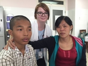Duc, his mom and MEDRIX staff, pre-surgery