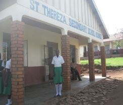 Student NS at school entrance