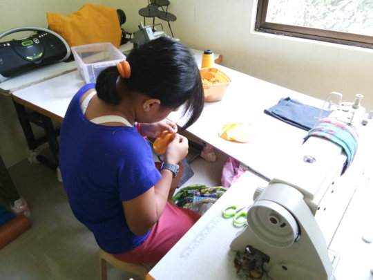 Developing skills in sewing