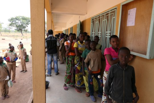 In line for vaccination