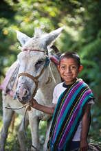 Joj Santay steers his Donkey
