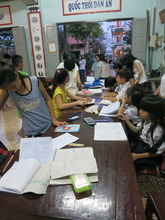 students continued to arrive for help from tutors