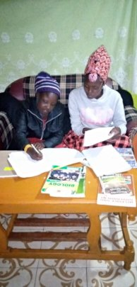 studying during Covid19 at the rescue center