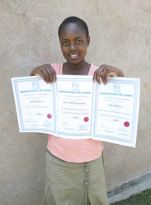 Mary Keruta wins top school honors