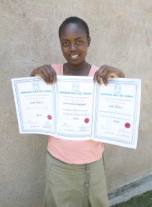 Mary at 15 -- winning awards at boarding school