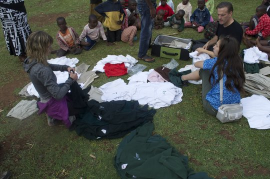 clothing distribution