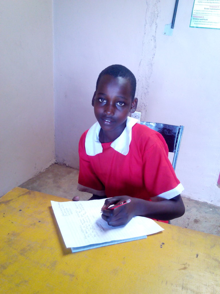 thank you letter from Maasai girl in the program