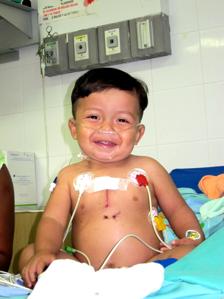 Little Argel One Day After Surgery