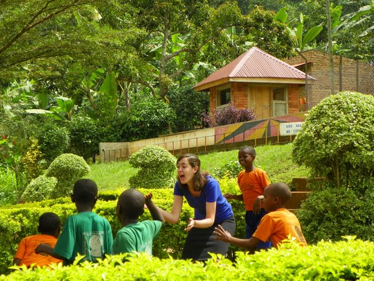 Alex, a volunteer, loved time with the students