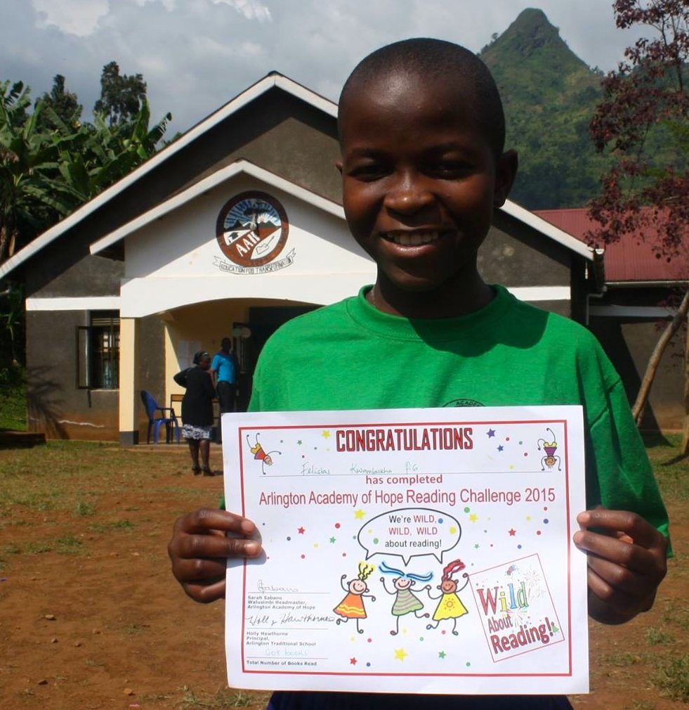 Students are proud of their reading certificates!
