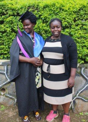 Co-founder Joyce at UCU graduation ceremony
