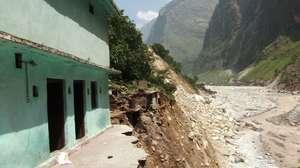 Washed away homes in Pandukeshwar village