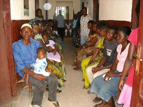 Clinic Patients wait their turn