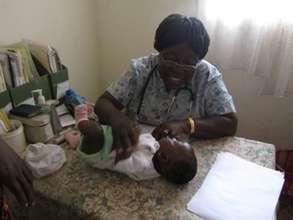 Nurse Annie with Baby