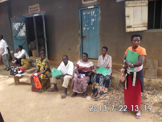 Mothers after the sensitization meeting