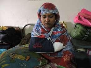 Hamida Resting After Surgery