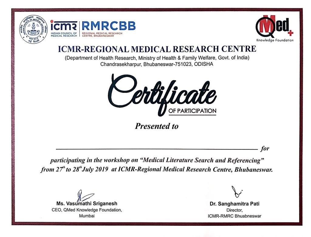 Matter of pride -  ICMR & QMed logos together!