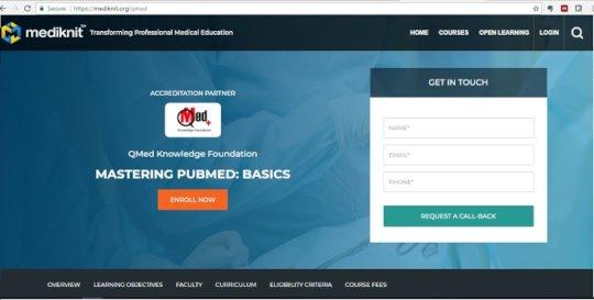 ELearning homepage