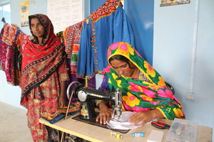 Local facilitators in the Babo Village, Thatta