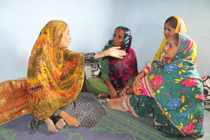 Women story telling sessions in the Center