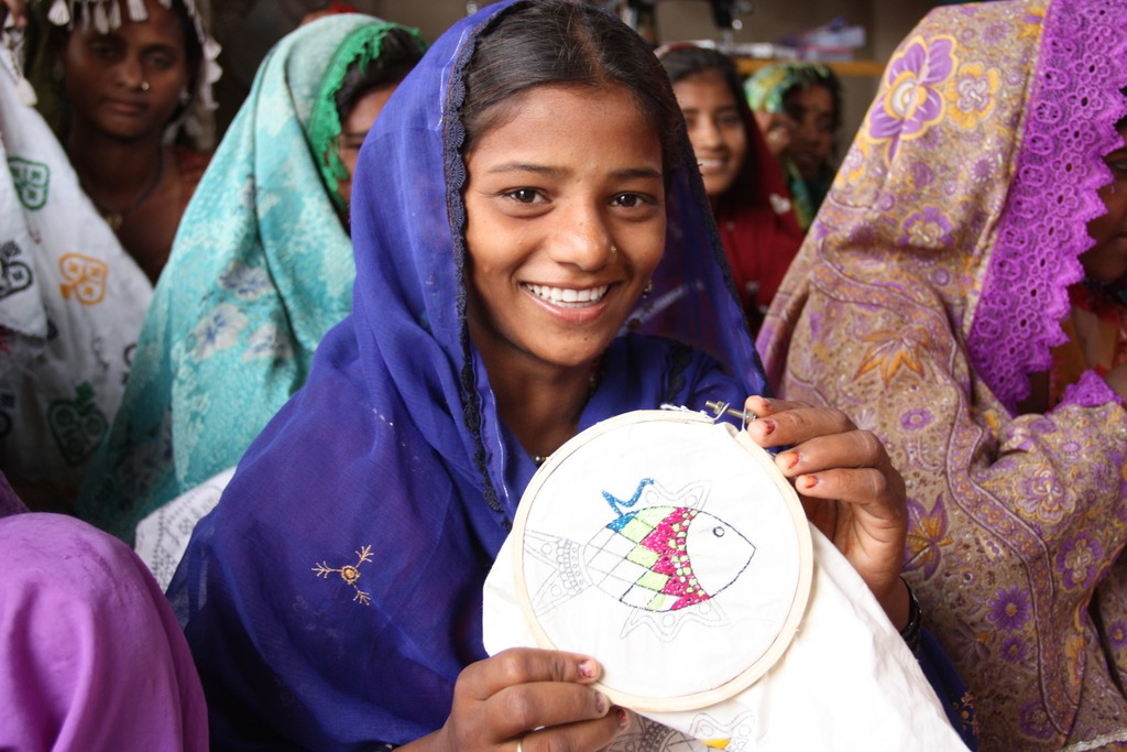 Embroidery is a way of communication for them