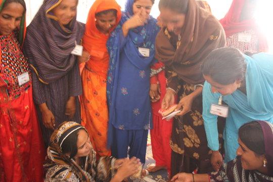 Sughar women enjoying peer learning sessions