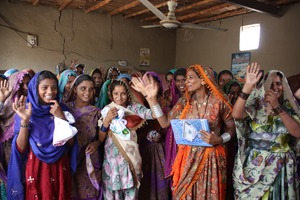 women in the Atta Pali Village Sughar Center