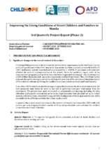 3rd Quarterly Narrative Report (PDF)