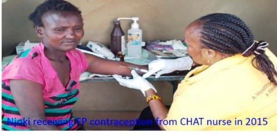 Njoki* receiving services from CHAT nurse in 2015