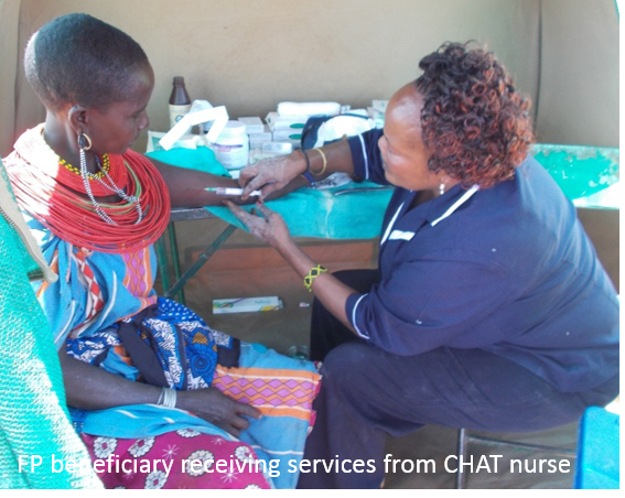 FP champion receiving services from CHAT nurse