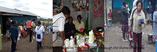 CHAT team led by Roselyne (CORP) in Nanyuki slums