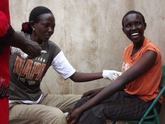 Gatwiri receiving services via door to door nurse