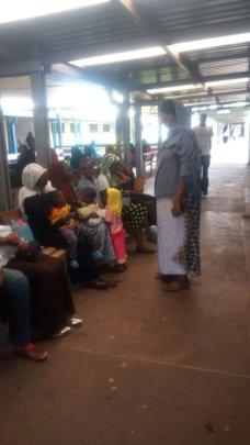 Fatuma providing sensitisation at Isiolo MCH
