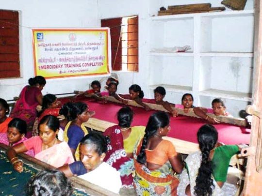 Provide embroiderytraining to 30 poor women