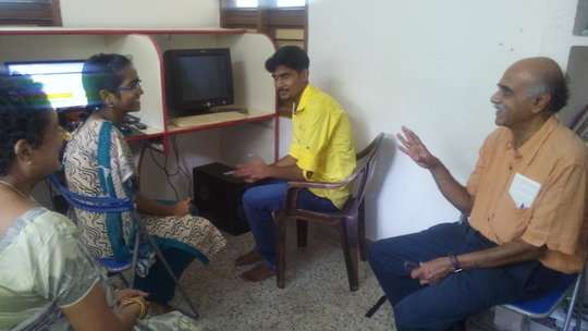 Mr.Shankar, Brissccaar with online course students
