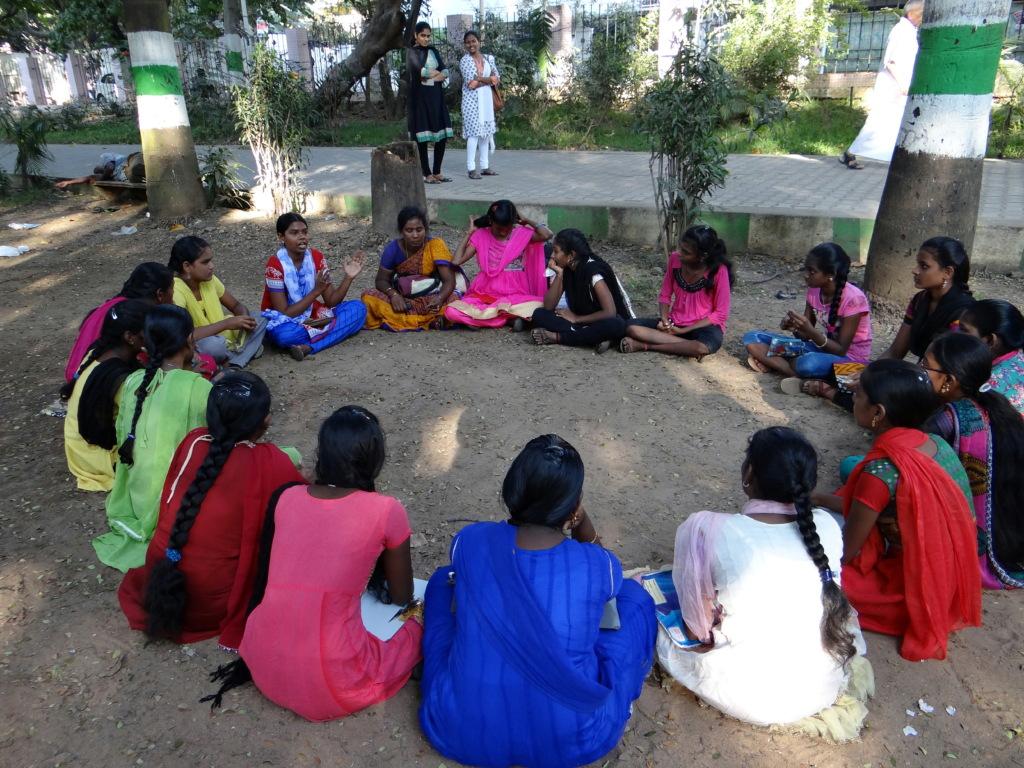 Girls meeting in Mylapore