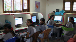 Computer skill training for girls