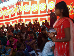 Adolescent girls meeting