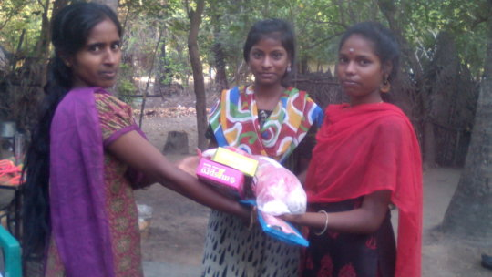 Flood relief materials distributed for rural girls