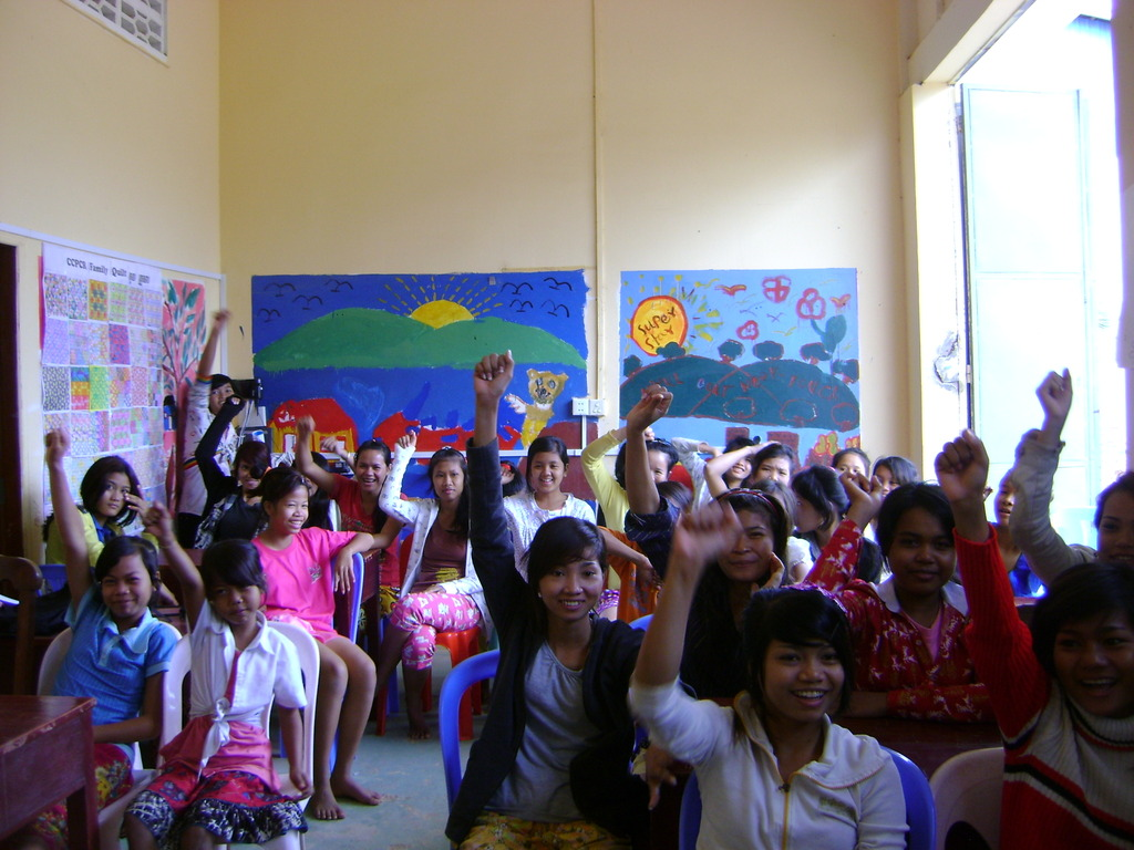 Students participating during lessons