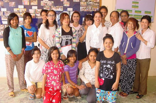 Some of the girls and CCPCR staff