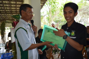 Sul is Receiving His Certificate on Graduation