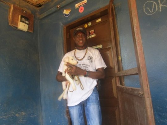 CCA-SL Founder Tom Sandi and Jungle, his new pet