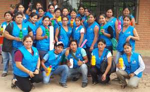 The health promoters for 4 villages