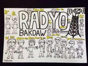 Drawing of the Radio Bakdaw team, Niko, Age 12