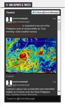 EnviroNews' live SMS news feed